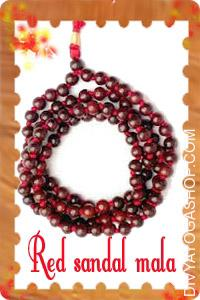 Red Sandal (Chandan) Mala This Red Sandalwood mala charged by Moon mantra. Sandalwood is a each soothing and fragrant. It attracts...