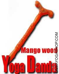 Mango wood yoga stick