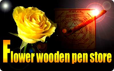 flower wooden pen