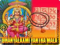 Dhaanya-Lakshmi yantra mala for food grains