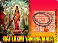 Gaja-Lakshmi yantra mala for success in property