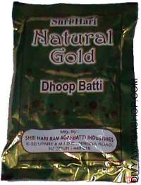 Natural gold dhoop batti