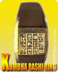 Kumbha (Aquarius) Rashi ring