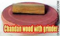 Sandalwood with stone grinder