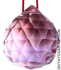 Pink Crystal hanging ball