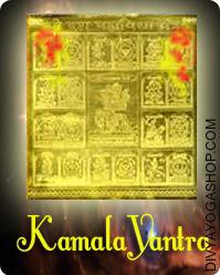Kamala gold plated yantra