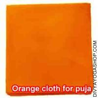 Orange cloth for puja