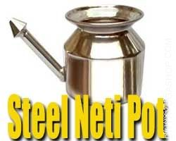 steel neti pot