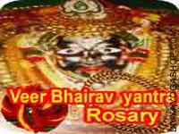 Veer Bheirav Yantra and rosary for black magic