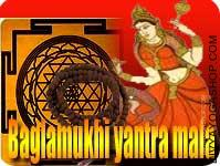 Bagalamukhi yantra and rosary for victory