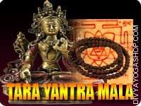 Tara yantra and rosary for wealth