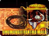 Dhumavati yantra and mala for get rid of financial problems