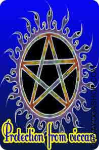 Amulet for protection from wiccan