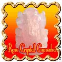 Rose Crystal Ganesha