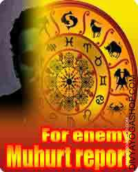 Muhurt for enemy