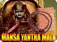 Manasa yantra and rosary for removing fears