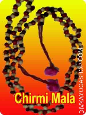 Mix Chirmi bead (red-white-black) mala