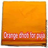 Orange dhoti for puja