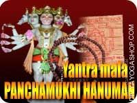 Panchamukhi hanuman yantra mala for strong protection