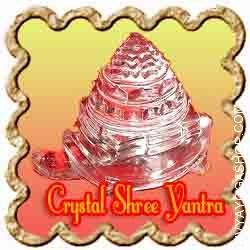 Crystal Shree Yantra on Tortoise