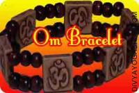 Om bracelet in chandan beads