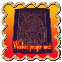 Woolen prayer mat