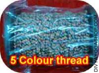 5 colour threads for puja