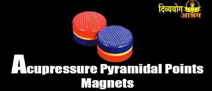 Acupressure pyramidal points magnets