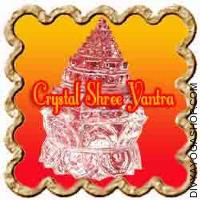 Crystal Shree yantra on lotus