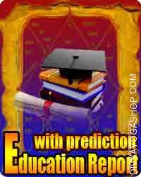 Education report with Life predictions