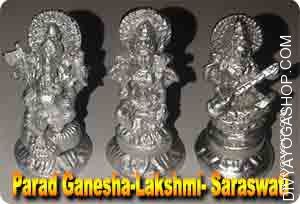 Parad Lakshmi-Ganesh-Sarswati for wealth