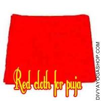 Red cloth for pooja