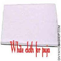 White cloth for pooja