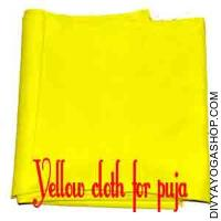 Yellow cloth for pooja