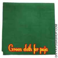 Green cloth for puja