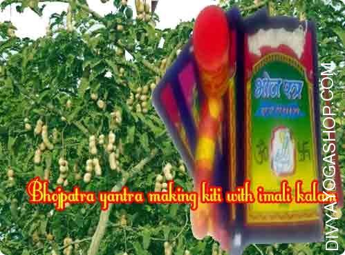 Bhojpatra yantra making set with imali tree kalam