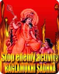 Baglamukhi Sadhna for stop enemy activities