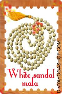 White Sandal (Chandan) Mala