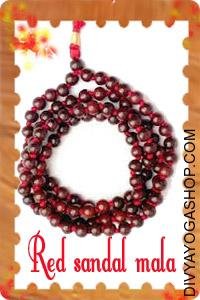 Red Sandal (Chandan) Mala