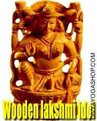 Wooden lakshmi idol