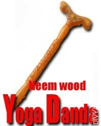 Neem wood yoga stick